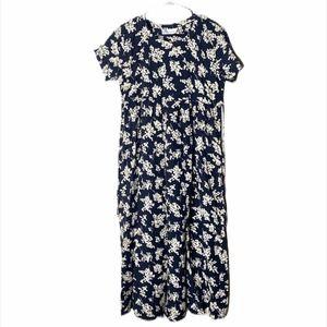 🍁 MOTHERHOOD MATERNITY Floral Maxi Dress black XL